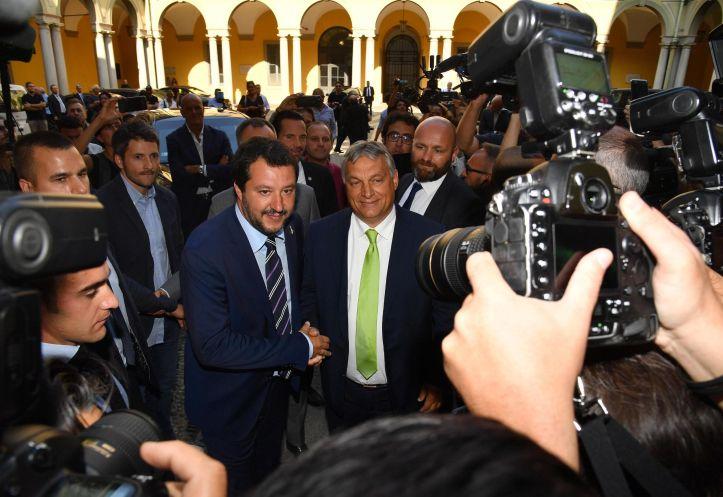Salvini se reúne con el primer ministro húngaro, Viktor Orban